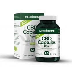 CBD Capsules Raw 2,5% – Bio – 30st