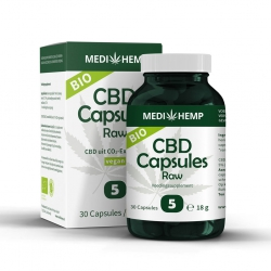 CBD Capsules Raw 5% – Bio – 30st