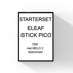 ELEAF - STARTERSET - iSTICK PICO (75W) (met MELO 3 clearomizer)
