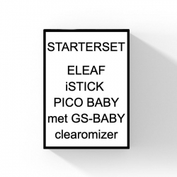 ELEAF ISTICK PICO BABY + GS BABY CLEAROMIZER - 25W STARTSET