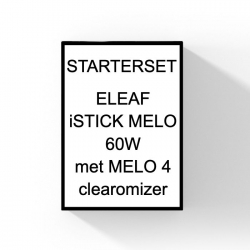 Eleaf Melo 60 watt kit met Melo 4 clearomizer