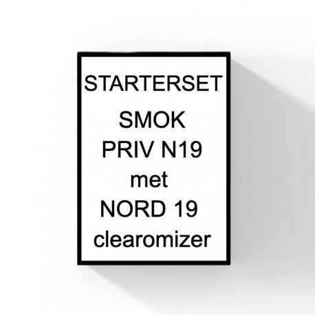 Smok Priv N19 met Nord 19 clearomizer