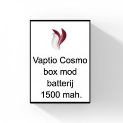 Vaptio Cosmo box mod batterij 1500 mah.