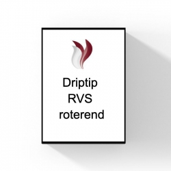510 Driptip roterend. (RVS)