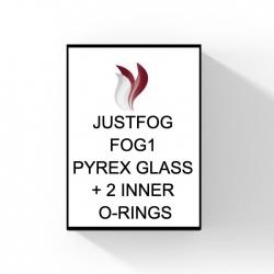 JUSTFOG FOG 1 PYREX GLASS + 2 INNER O-RINGS