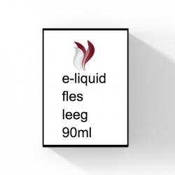 E-liquid fles leeg 90 ml.